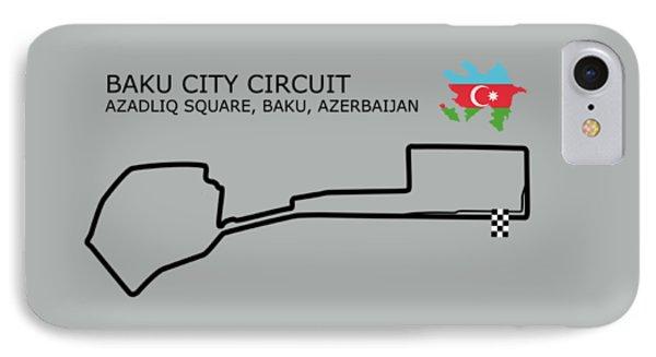 Baku City Grand Prix Circuit IPhone Case