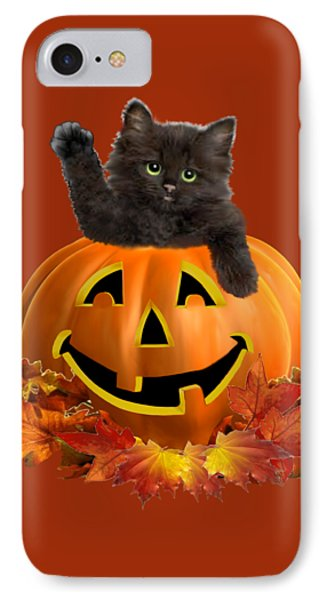 Pumpkin Kitty IPhone Case