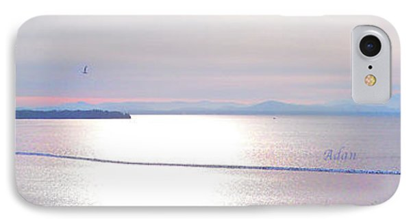 Lake Champlain South From Atop Battery Park Wall Panorama IPhone Case