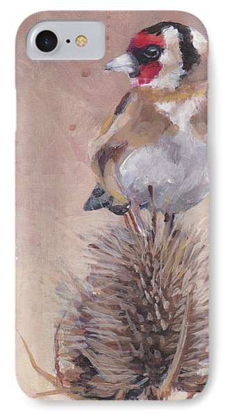 Finch On Thistle IPhone Case