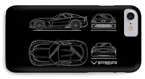 Viper Blueprint IPhone Case