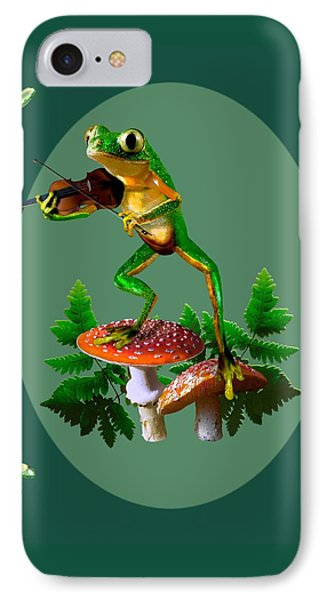 Humorous Tree Frog Playing A Fiddle IPhone Case