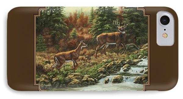 Whitetail Deer - Follow Me IPhone Case
