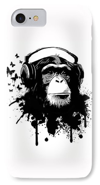 White iPhone 8 Case - Monkey Business by Nicklas Gustafsson