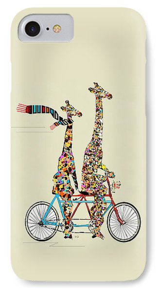 Transportation iPhone 8 Case - Giraffe Days Lets Tandem by Bleu Bri
