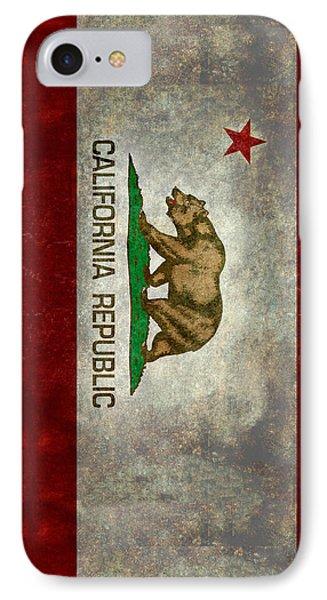 California Republic State Flag Retro Style IPhone Case