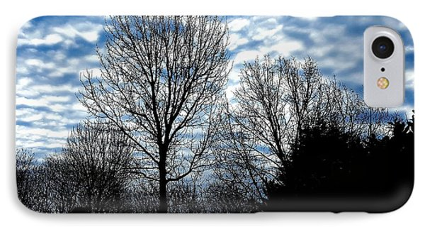 Ash Trees Against A Mackerel Sky IPhone Case