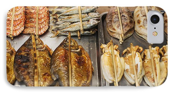 Asian Grilled Barbecued Seafood In Kep Market Cambodia IPhone Case