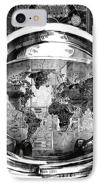 Astronaut World Map 1 IPhone Case
