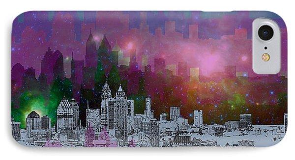 City Scenes iPhone 8 Case - Atlanta Skyline 7 by Alberto RuiZ