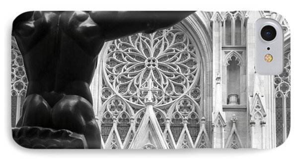 Atlas And St. Patrick's Cathedral IPhone Case