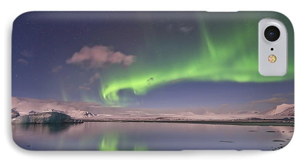 Aurora Borealis And Reflection #2 IPhone Case