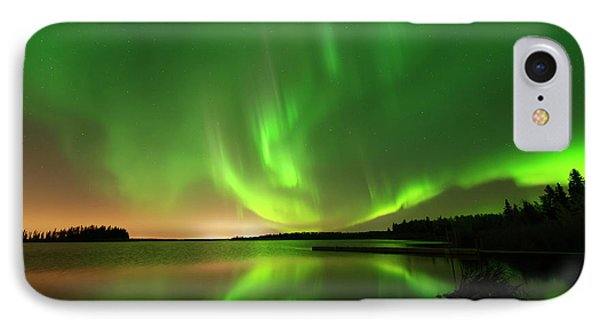 Aurora Borealis At Elk Island National Park IPhone Case