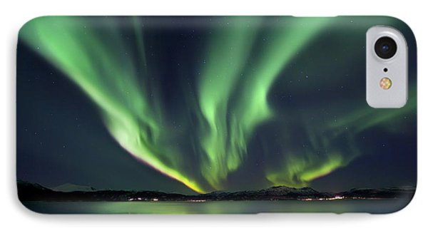 Aurora Borealis Over Tjeldsundet IPhone Case