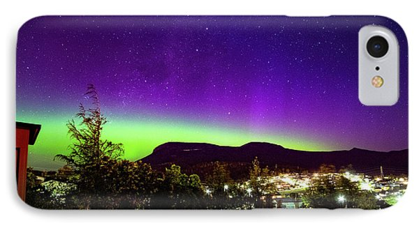 Aurora Over Mt Wellington, Hobart IPhone Case