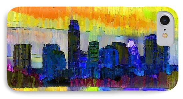 Austin Texas Skyline 202 - Pa IPhone Case