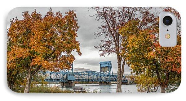 Autumn Blue Bridge IPhone Case