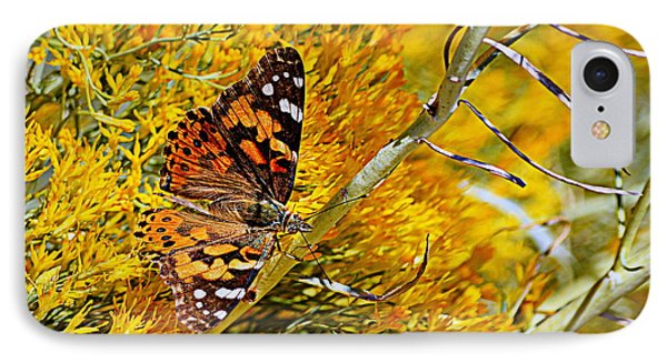 IPhone Case featuring the photograph Autumn Butterfly by AJ Schibig