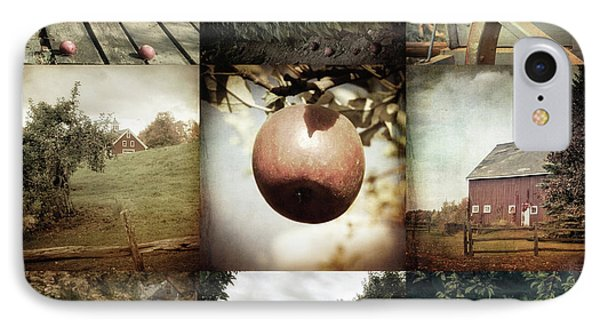 IPhone Case featuring the photograph Autumn Collage - Autumn In New England by Joann Vitali