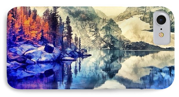 Autumn Day On The Lake. IPhone Case