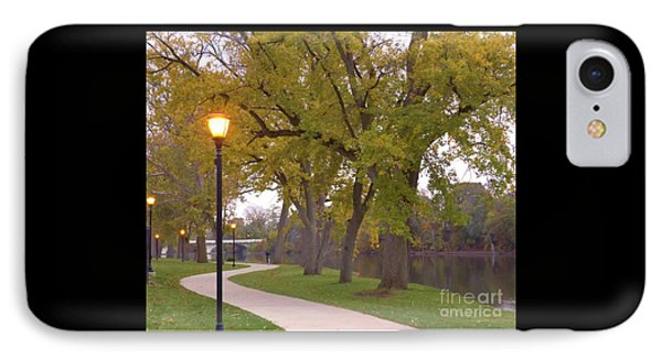 Autumn Evening Along The River     November    Indiana IPhone Case