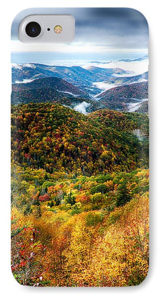 Autumn Foliage On Blue Ridge Parkway Near Maggie Valley North Ca IPhone Case