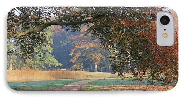Autumn Landscape With Colored Trees In Park, Netherlands IPhone Case