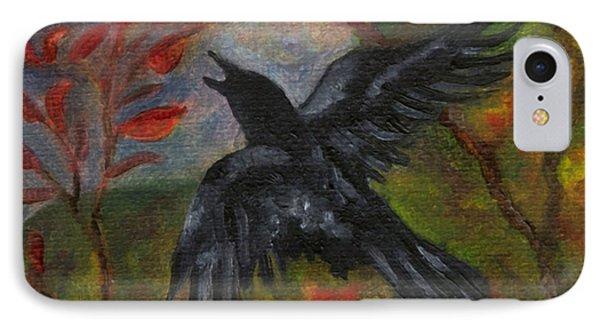 Autumn Moon Raven IPhone Case