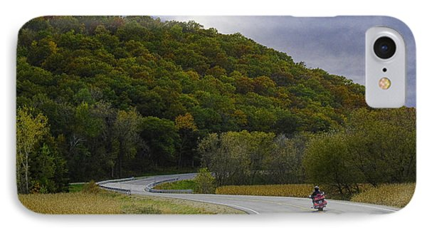 Autumn Motorcycle Rider / Red IPhone Case