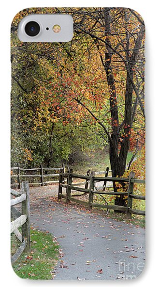 Autumn Path In Park In Maryland IPhone Case