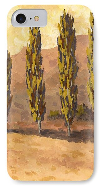 Autumn Poplars IPhone Case