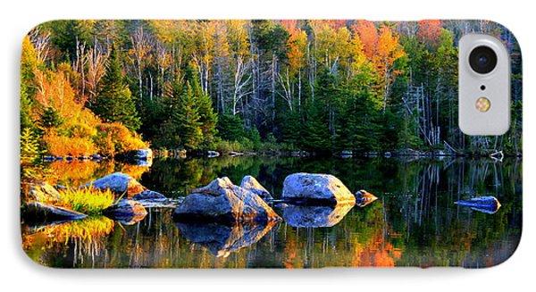 'autumn Reflections - Noyes Pond' IPhone Case