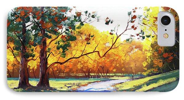 Beautiful Nature iPhone 8 Case - Autumn Road Mt Wilson by Graham Gercken