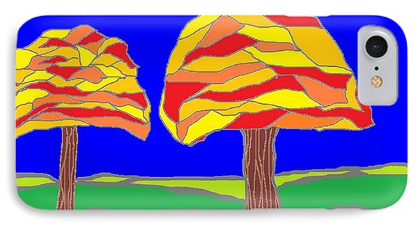Autumn Stained Glass 1 IPhone Case