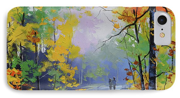 Beauty In Nature iPhone 8 Case - Autumn Stroll by Graham Gercken