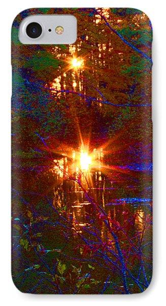 Autumn Sunburst Reflections IPhone Case