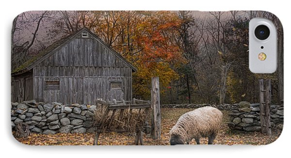 Sheep iPhone 8 Case - Autumn Sweater by Robin-Lee Vieira