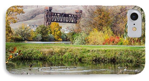 Autumn Train Bridge IPhone Case