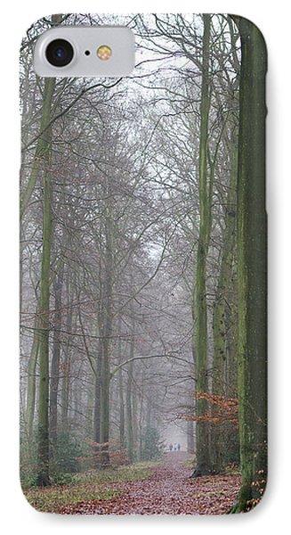 Autumn Woodland Avenue IPhone Case