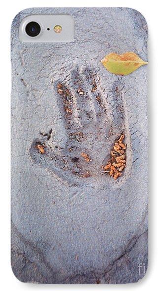 Autumns Child Or Hand In Concrete IPhone Case