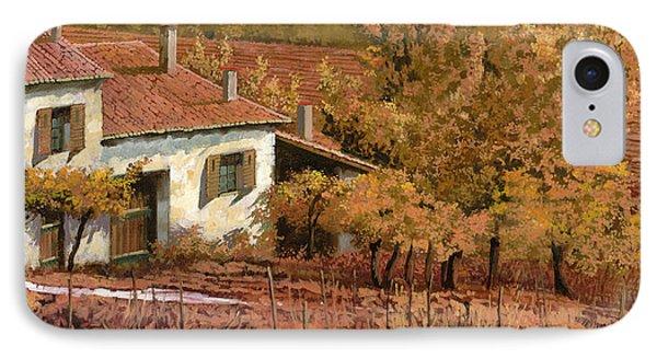 Rural Scenes iPhone 8 Case - Autunno Rosso by Guido Borelli