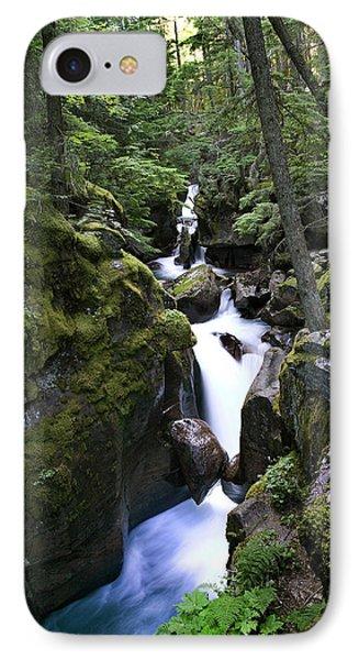 Avalanche Gorge Glacier National Park IPhone Case