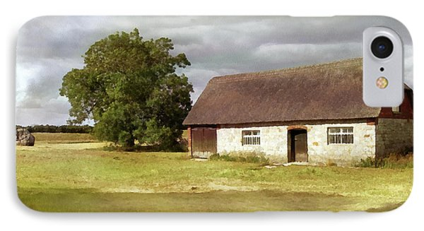 Avebury Cottage Tree And Standing Stone IPhone Case