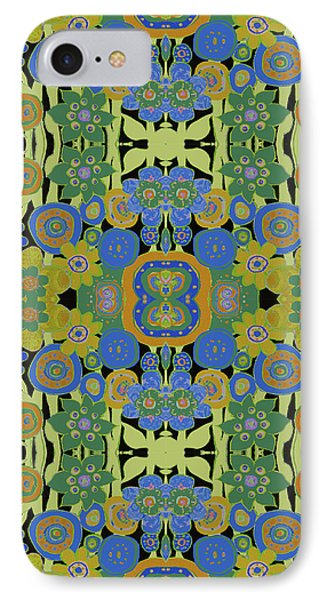 IPhone Case featuring the painting Avocado Blue Pattern by Lisa Weedn