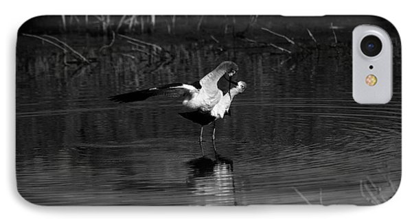 IPhone Case featuring the photograph Avocet Courtship Dance by John F Tsumas