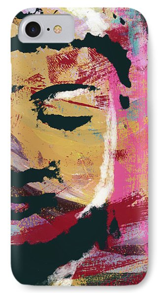 Awakened Buddha 3- Art By Linda Woods IPhone Case