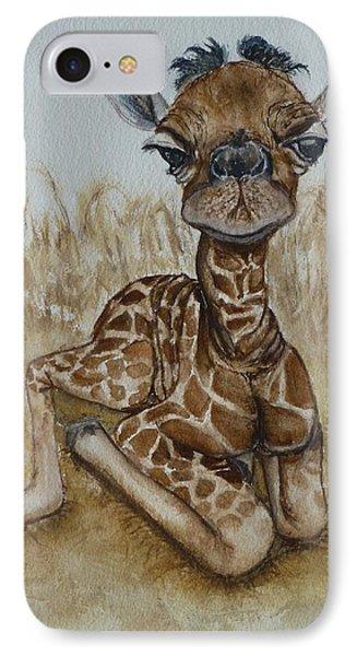 New Born Baby Giraffe IPhone Case