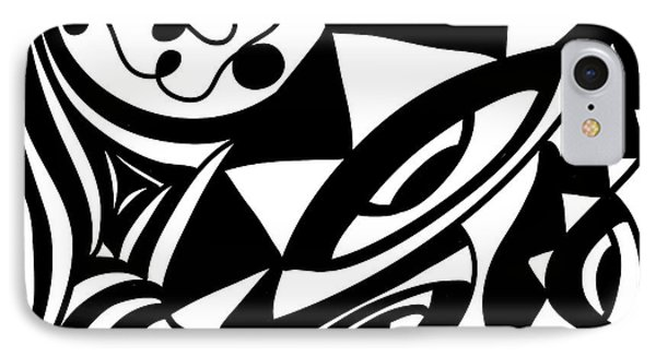 Back In Black And White 1 Modern Art By Omashte IPhone Case
