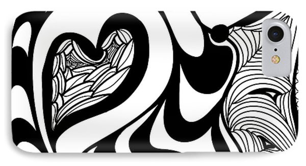 Back In Black And White 10 Modern Art By Omashte IPhone Case