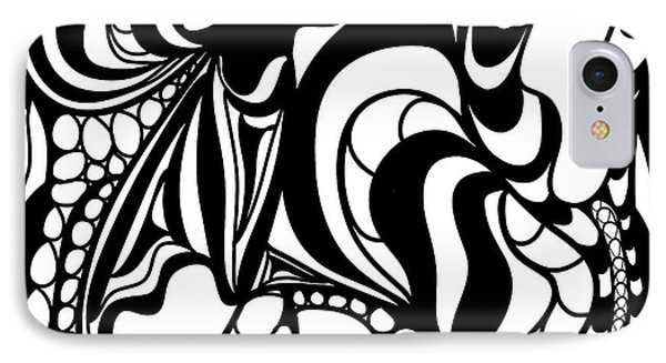 Back In Black And White 12 Modern Art By Omashte IPhone Case